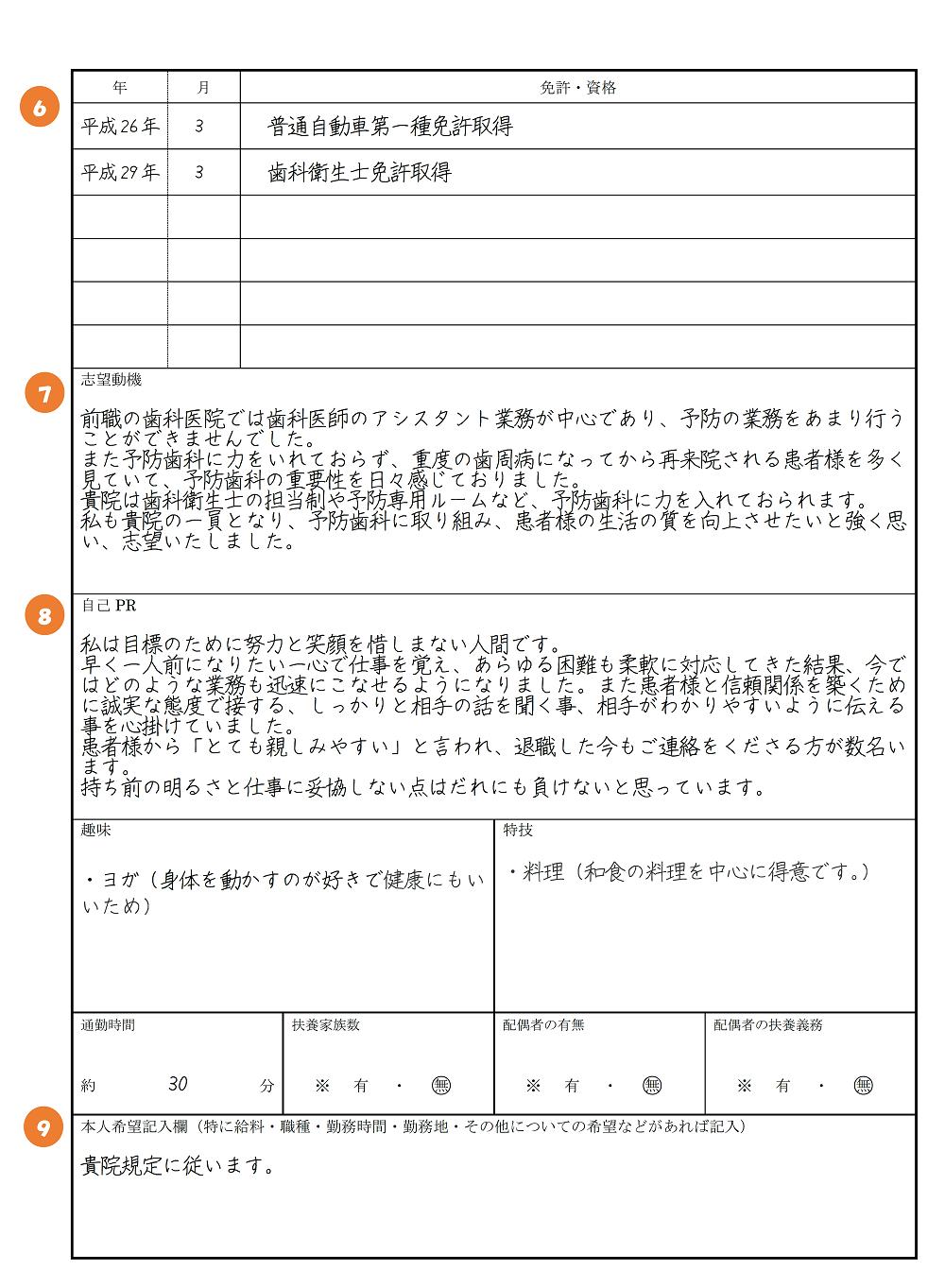 書 動機 履歴 例文 志望